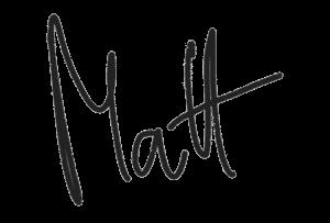 Signatur Matt